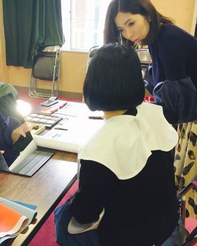 小学校でパーソナルカラー講座